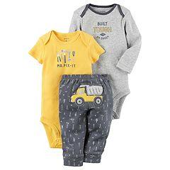 Baby Boy Carter's 'Mr. Fix-It' Bodysuit, Graphic Bodysuit & Dump Truck Pants Set