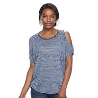 Women's Juicy Couture Marled Cold-Shoulder Tee