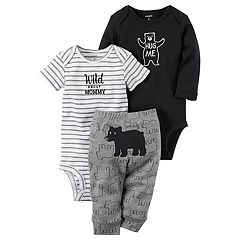 Baby Boy Carter's 'Wild About Mommy' Bodysuit, Bear Bodysuit & Pants Set