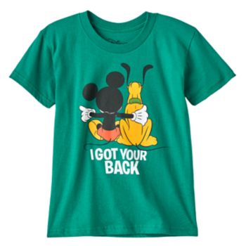 """Disney's Mickey Mouse & Pluto Toddler Boy """"I Got Your Back"""" Graphic Tee"""