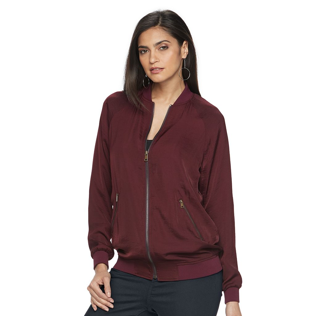 Women's Jennifer Lopez Oversize Bomber Jacket