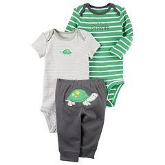 Baby Boy Carter's Turtle Bodysuit, 'Little Speedster' Bodysuit & Turtle Pants Set