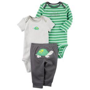 "Baby Boy Carter's Turtle Bodysuit, ""Little Speedster"" Bodysuit & Turtle Pants Set"