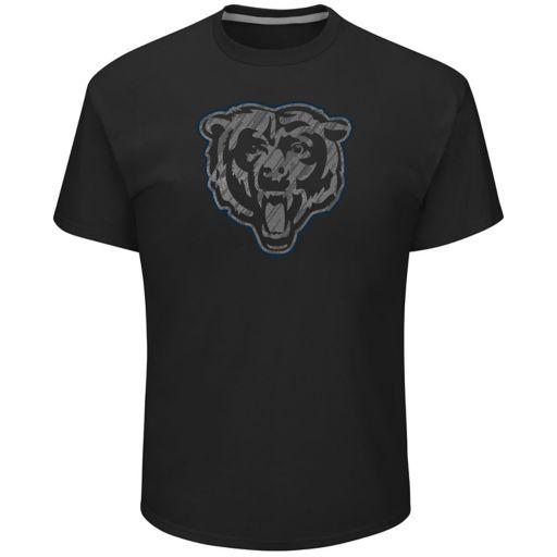 Big & Tall Majestic Chicago Bears Tonal Logo Tee