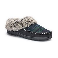 Women's Dearfoams Faux Fur Lined Jacquard Clog Slippers