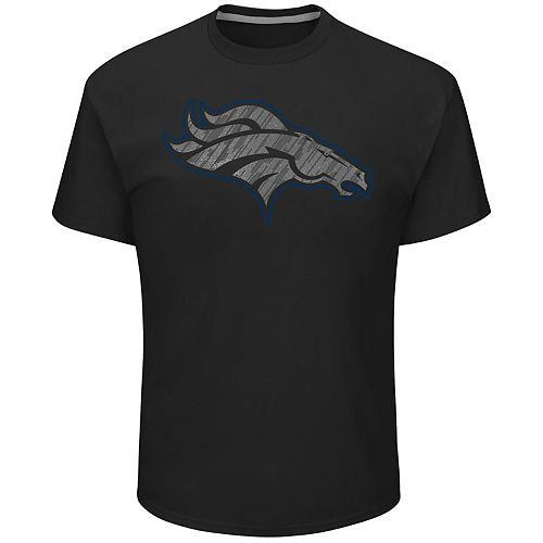 Big & Tall Majestic Denver Broncos Tonal Logo Tee