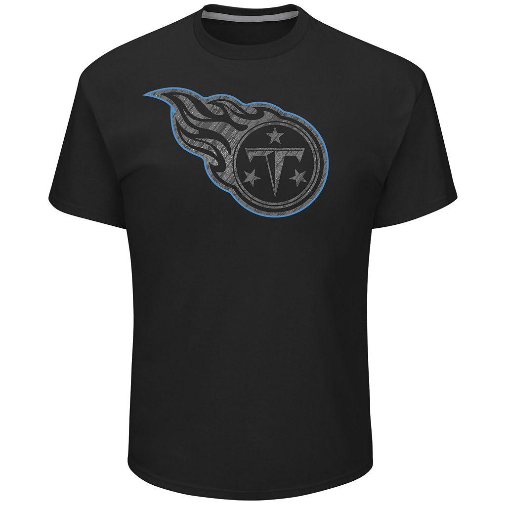 Big & Tall Majestic Tennessee Titans Tonal Logo Tee