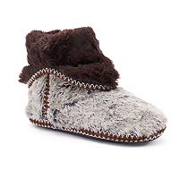 Women's Dearfoams Fold Down Bootie Slippers