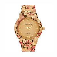 Journee Collection Women's Floral Watch