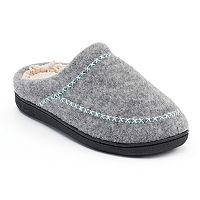 Dearfoams Women's Felt Cross-Stitch Slippers