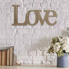 Stratton Home Decor 'Love' Wall Decor
