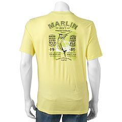 Men's Caribbean Joe Back-Print 'Marlin Bay Fishing Supplies' Tee