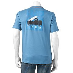 Men's Caribbean Joe Back-Print 'West Beach Tour' Tee
