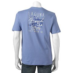 Men's Caribbean Joe Back-Print 'Laguna Beach Board Club' Tee