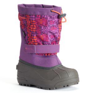 Columbia Powderbug Plus II Girls' Waterproof Winter Snow Boots