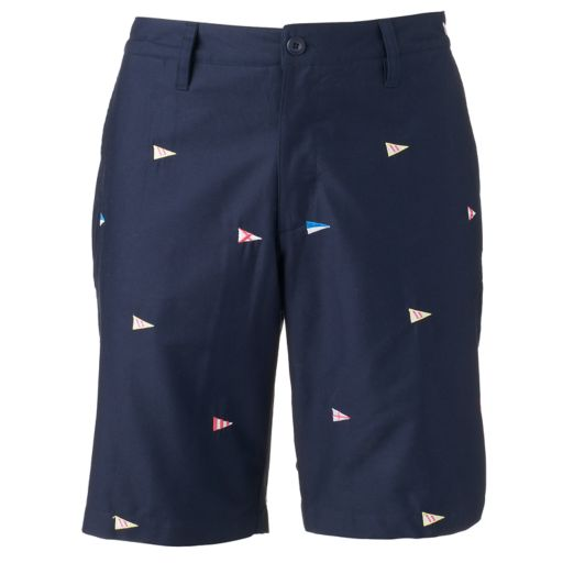 Men's Caribbean Joe Classic-Fit Embroidered Twill Shorts