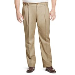 Big & Tall IZOD Classic-Fit Sportflex Performance Plus Stretch Double-Pleated Pants