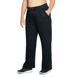 Plus Size Champion Open Bottom Fleece Pants
