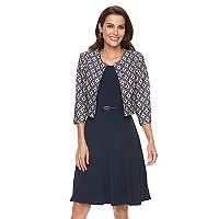 Women's Jessica Howard Geometric Jacket & A-Line Dress Set