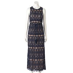 Women's Jessica Howard Lace Overlay Maxi Dress