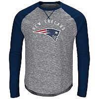 Big & Tall Majestic New England Patriots Hyper Raglan Tee
