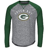 Big & Tall Majestic Green Bay Packers Hyper Raglan Tee