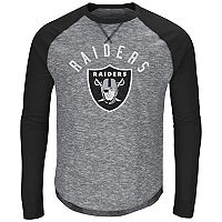 Big & Tall Majestic Oakland Raiders Hyper Raglan Tee