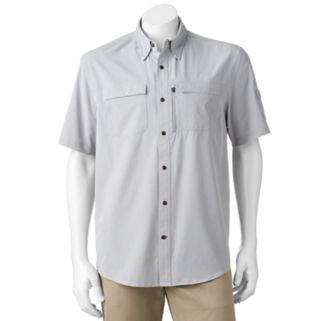 Men's Coleman Classic-Fit Chambray Stretch Performance Button-Down Fishing Shirt