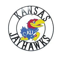 Kansas Jayhawks 18-Inch Wrought Iron Wall Décor