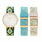 Journee Collection Women's Watch & Interchangeable Band Set