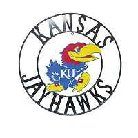 Kansas Jayhawks 24-Inch Wrought Iron Wall Décor