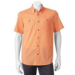 Men's Coleman Classic-Fit Textured Plaid Performance Button-Down Shirt