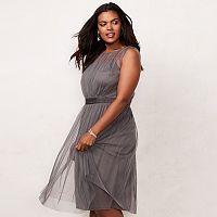 Plus Size LC Lauren Conrad Shirred Tulle Dress