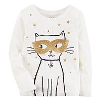Toddler Girl Carter's Glitter Masked Cat Halloween Graphic Tee