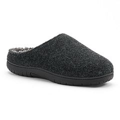 Men's Heat Keep Solid Flannel Clog Slippers
