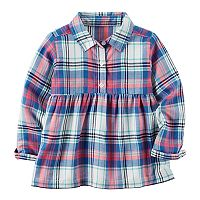 Toddler Girl Carter's Plaid Patterned Top