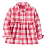 Toddler Girl Carter's Pink Checkered Top