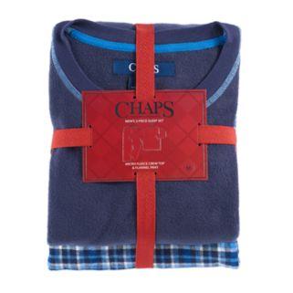 Men's Chaps Microfleece Top & Plaid Flannel Lounge Pants Set