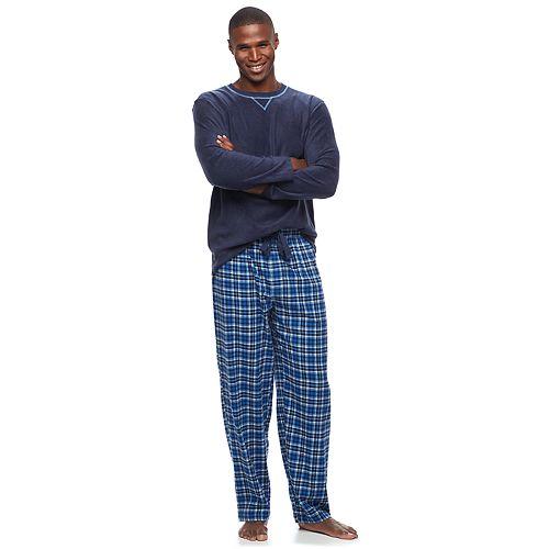 Men S Chaps Microfleece Sleep Top Amp Plaid Flannel Sleep