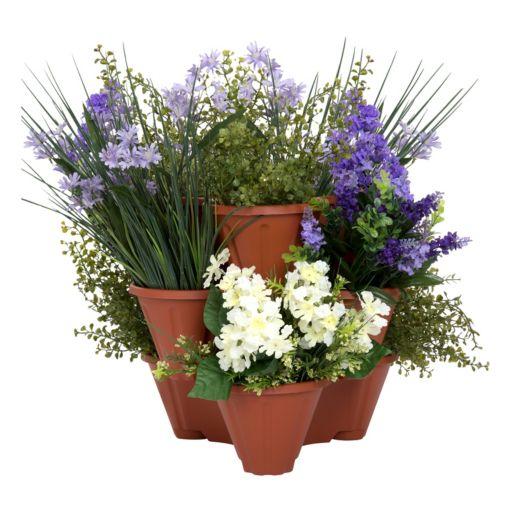 Navarro Outdoor Stackable Planter 3-piece Set