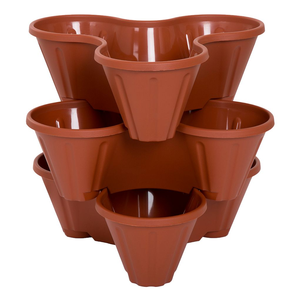 Navarro Outdoor Stackable Planter 3-piece Set