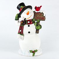 Gerson LED ''Merry Christmas'' Snowman Decor