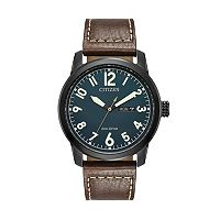 Citizen Eco-Drive Men's Chandler Leather Watch - BM8478-01L