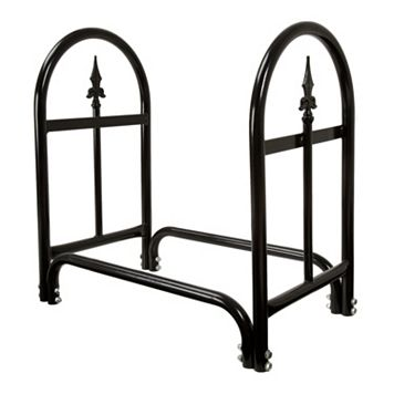 Navarro Indoor / Outdoor Finial Log Rack