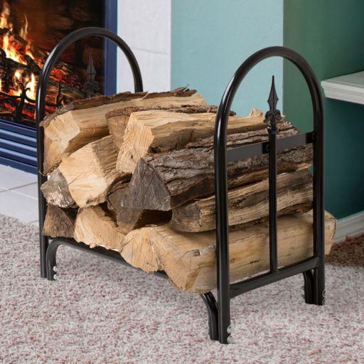 Navarro Indoor / Outdoor Finial Log Rack