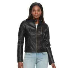 Womens Black Faux Leather Coats & Jackets - Outerwear, Clothing ...