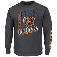Big & Tall Majestic Chicago Bears Two Hits Tee