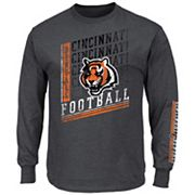 Big & Tall Majestic Cincinnati Bengals Two Hits Tee