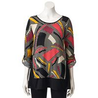 Women's Dana Buchman Printed Roll-Tab Top