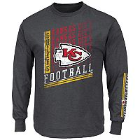 Big & Tall Majestic Kansas City Chiefs Two Hits Tee